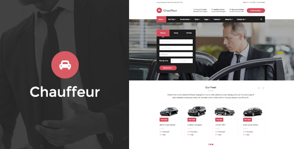 Chauffeur Transport WP Theme