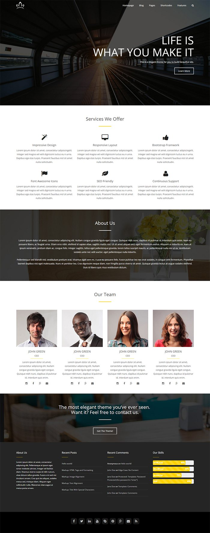 Free Business WordPress Theme Alchem 2