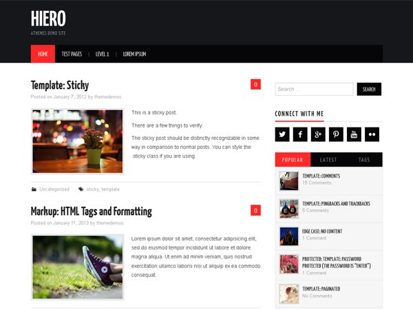 Hiero Free WP Theme