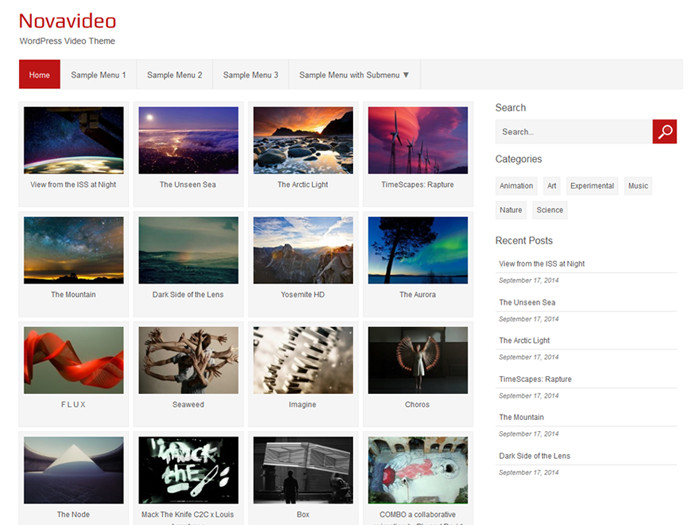 Novavideo free video wordpress themes