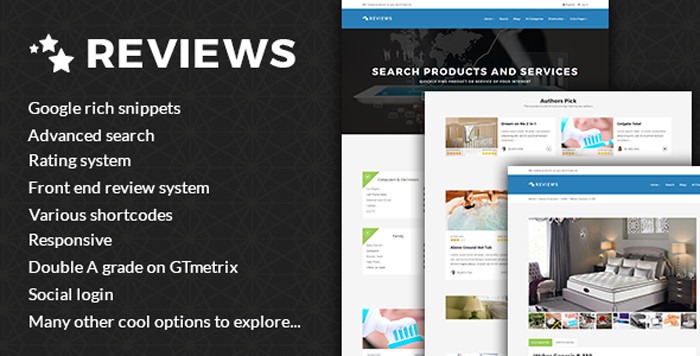 Products And Services Review WP Theme