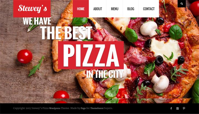 STEWEYS Pizza WordPress Theme