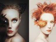 Stunning Self Portraits of a Woman Replace One Eye with an Animal's