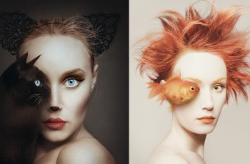 Self-Portraits Replace One Eye with an Animal 12