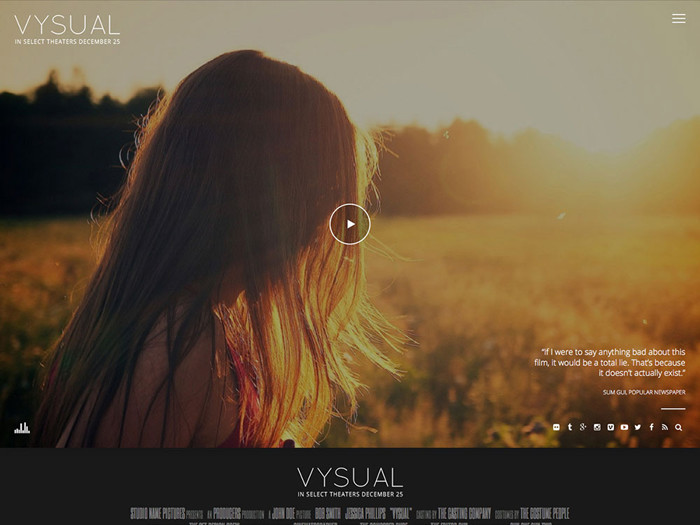 VYSUAL film campaign wp theme
