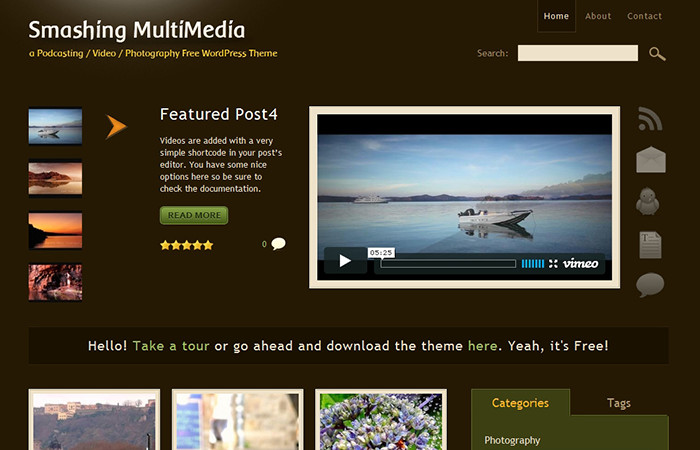 Video and Photography WordPress Theme