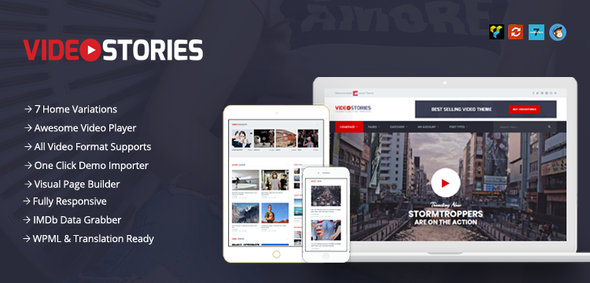 VideoStories WordPress Video Theme