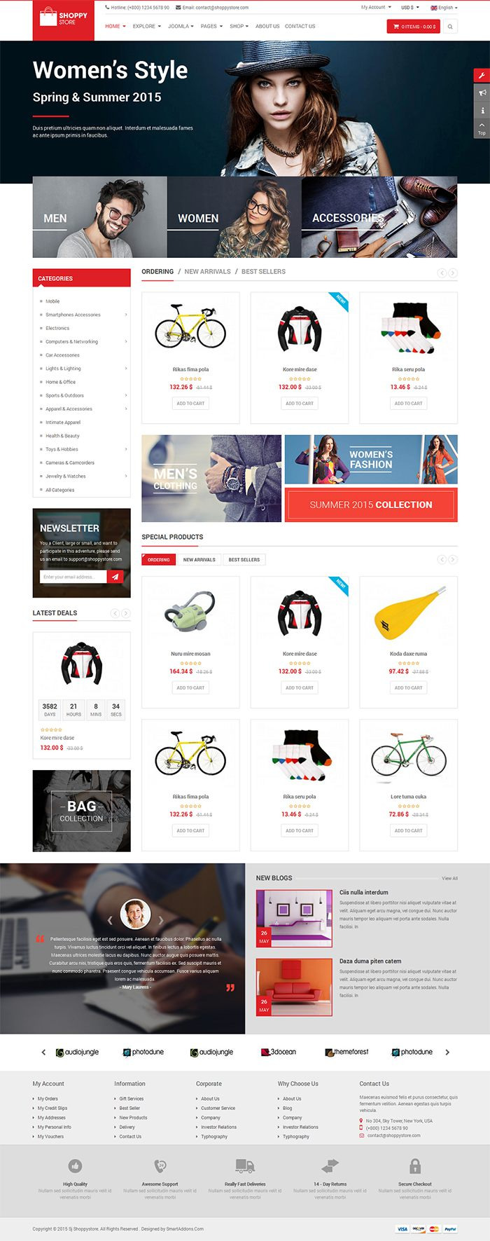 VirtueMart 3 Joomla Template ShoppyStore 1