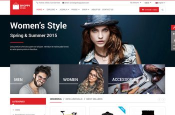 VirtueMart 3 Joomla Template ShoppyStore 2