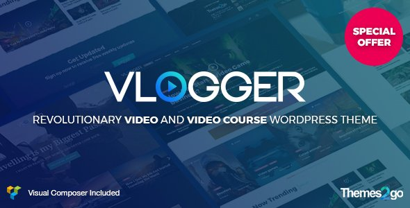 Vlogger Professional Video Tutorials WordPress Theme