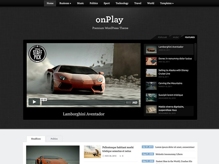 onplay video magazine wp theme