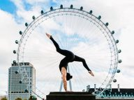 25 Beautiful Yoga Pose Photos in Famous Cities