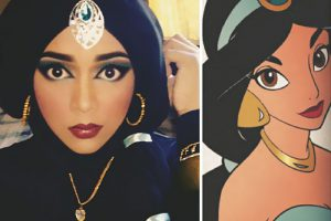 Princess Jasmine hijab disney princesses makeup queen of luna