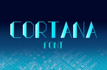 Cortana Geometrical Free Font Download 1