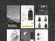 PSD Fashion and Ecommerce Mobile App UI to Free Download