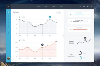 Free PSD Dashboard UI Kit 2