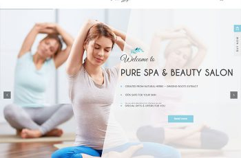 Pure Yoga Spa Beauty WordPress Theme