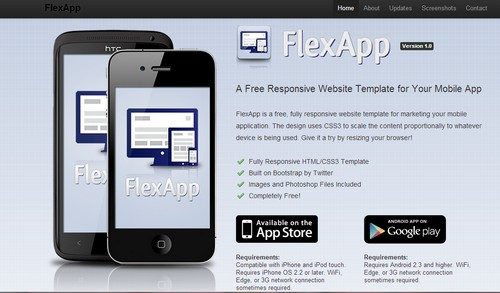 Flexapp free business website template starnight