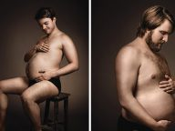 Beer Ad Humorously Shows Men Cradling Their Beer Bellies Like Pregnant Moms-To-Be
