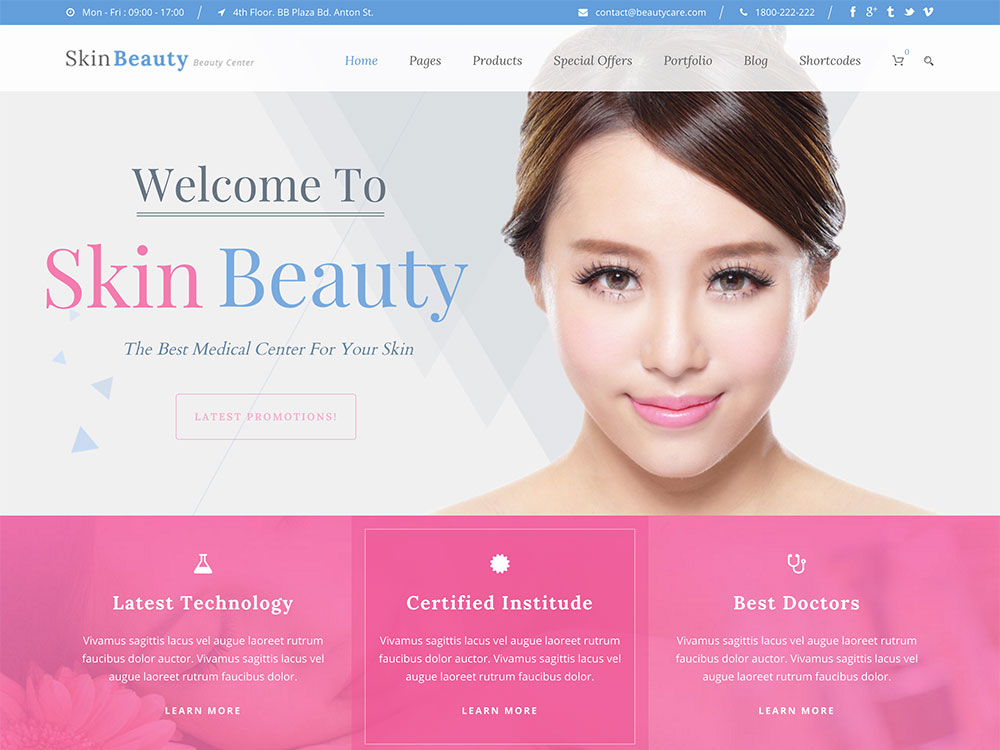 Skin Beauty yoga wordpress theme