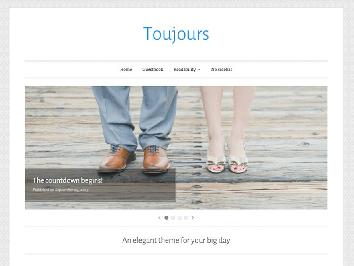 Toujours free simple wordpress theme