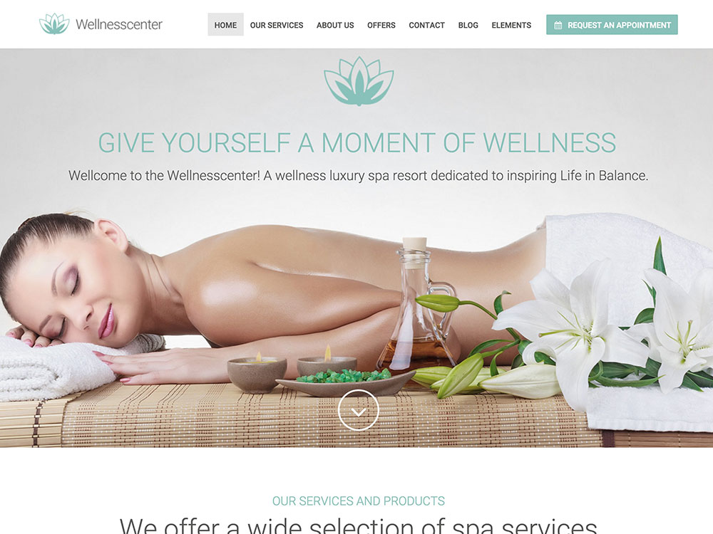 WellnessCenter yoga wordpress theme