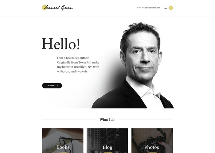 Writer Theme Blog for Writers and Journalists