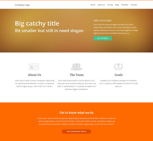 free business website template 20