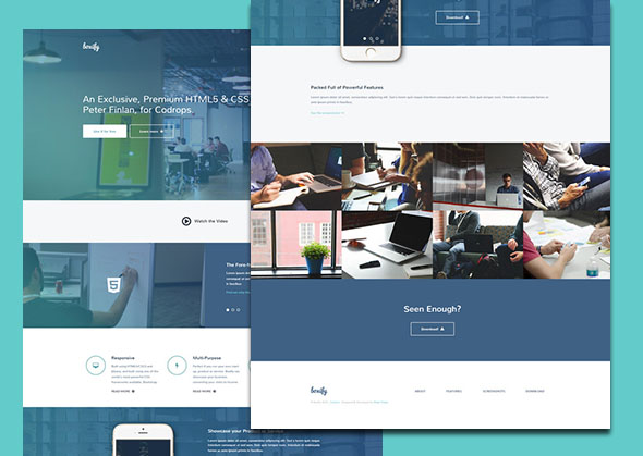 free business website template boxify