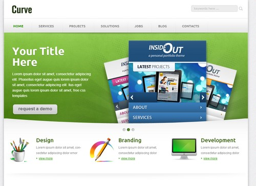 free business website template curve