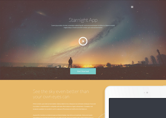 free business website template starnight