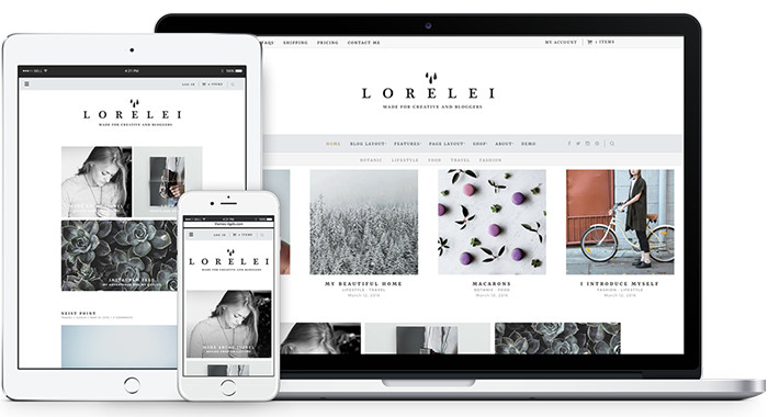 lorelei simple wordpress theme