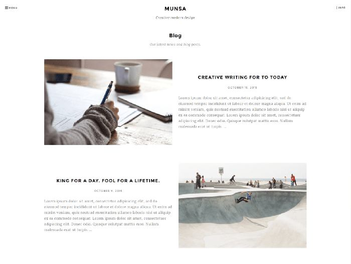 munsa free simple wordpress theme