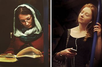 subway tube passengers portraits as 16th-century paintings 10