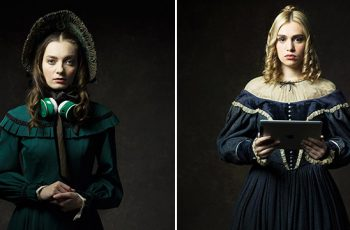 19th-Century Characters with Modern Technology 10