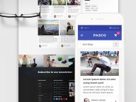 Free Multipurpose PSD Template for Websites – Pasco