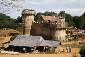 A view of the construction site of the Chateau de Guedelon near Treigny in the Burgundy region of France.  The Guedelon castle is a French medieval chateau-fort being built using the techniques, materials and rules of the 13th Century. Construction will be completed in 2030.   REUTERS/Jacky Naegelen