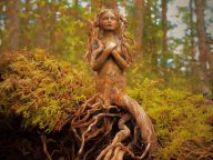 Stunning Driftwood into Fantastical Sculptures That Look like Spirits of Nature