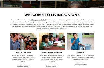 Free Charity WordPress Theme Pena Lite