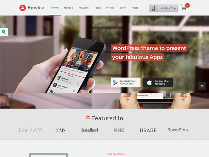 Landing Page WordPress Themes appdev