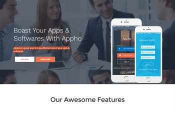 Landing Page WordPress Themes appho