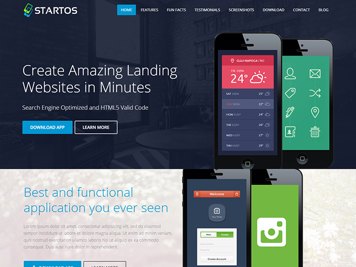 Landing Page WordPress Themes startos