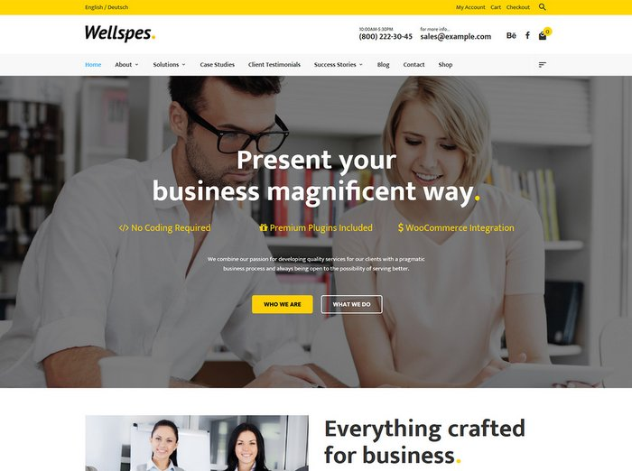 wellspes-business-wordpress-theme