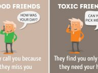 10 Differences Between Good Friends and Toxic Friends