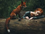 Dreamy Portraits of Redheads Paired With a Fiery Fox