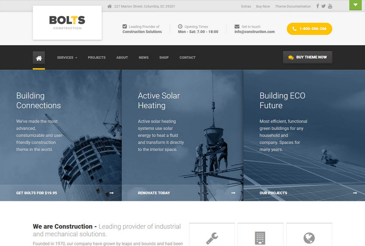 Bolts Construction WordPress Themes