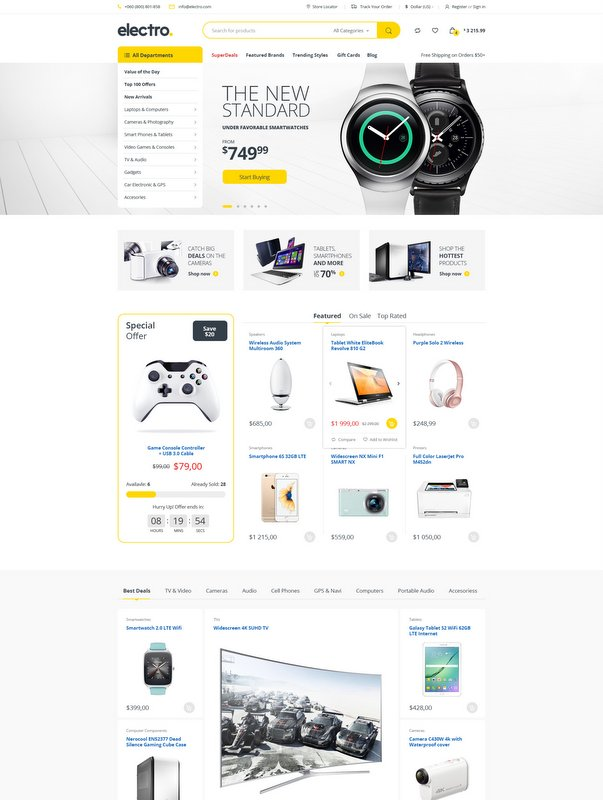 Electro Electronics Store WooCommerce WordPress Themes