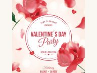 5 Beautiful Print-Ready Valentine's Day Posters Free Download