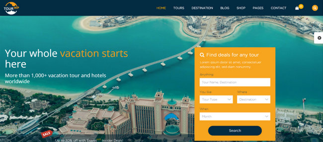 Tour WP Travel Tour WordPress Theme