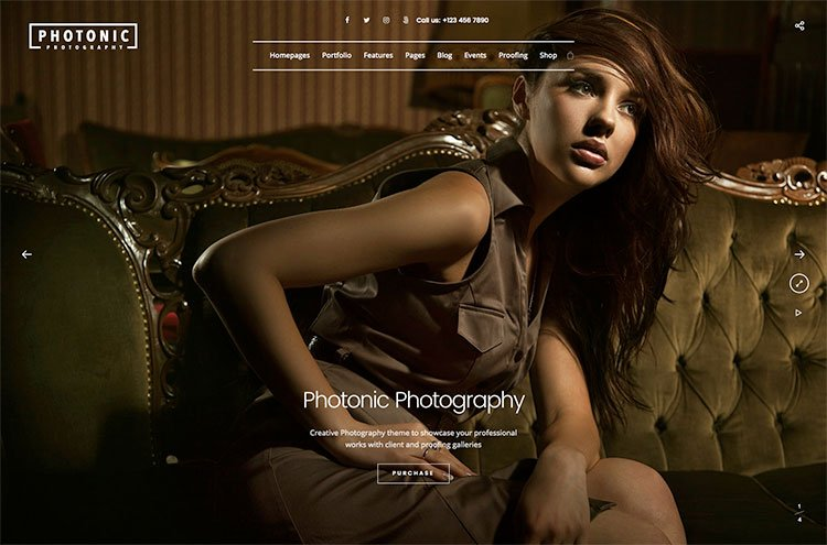 Photonic Photography Theme for WordPress